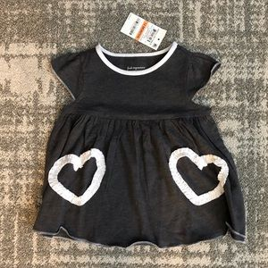 NWT heart dress for baby girl 12M